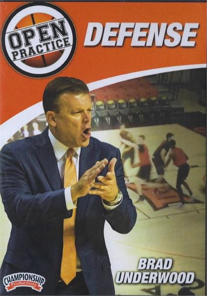 Brad Underwood Open Practice: Defense by Brad Underwood Instructional Basketball Coaching Video