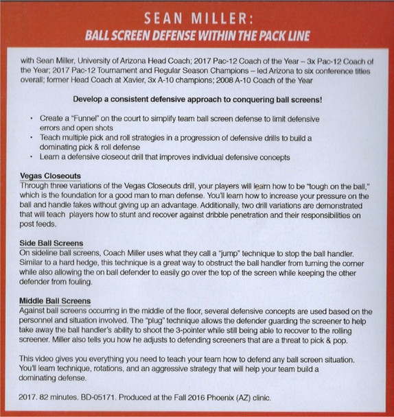 (Rental)-Ball Screen Defense Within The Pack  Line