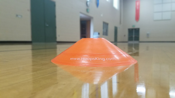 orange agility cones