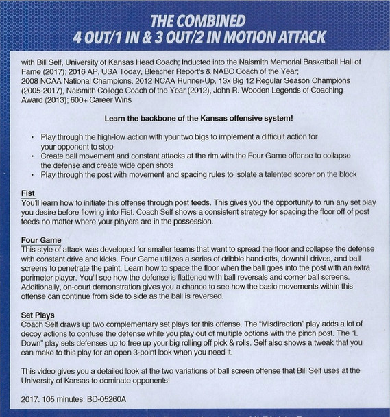 Bill Self Motion Offense