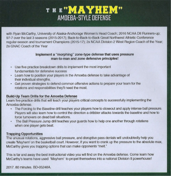 Mayhem Press Basketball - Amoeba-Style Defense DVD