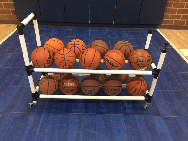 Power Dribble Ball cart for volleyball, soccer, basketball.