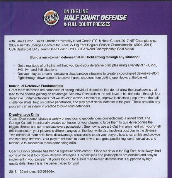 (Rental)-On The Line Half Court Defense & Full Court Presses