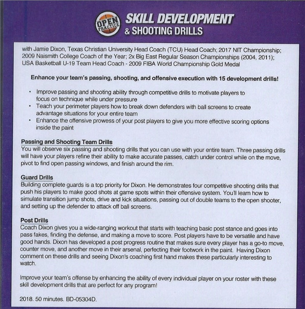 baskeball shooting drills skill development jamie dixon