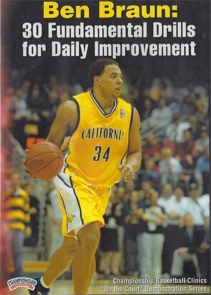 30  Fundamental Drills For Daily Improvement by Ben Braun Instructional Basketball Coaching Video