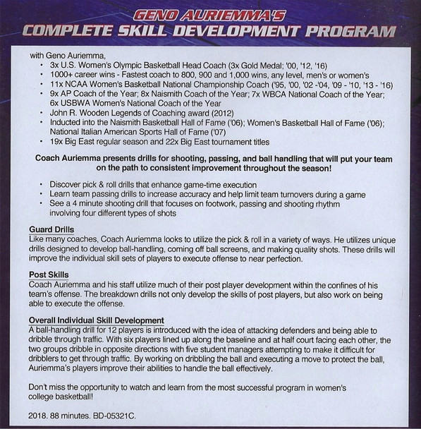 (Rental)-Geno Auriemma's Complete Skill Development Program