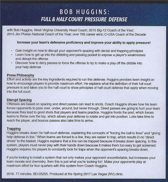 (Rental)-Bob Huggins: Full & Half Court Pressure Defense