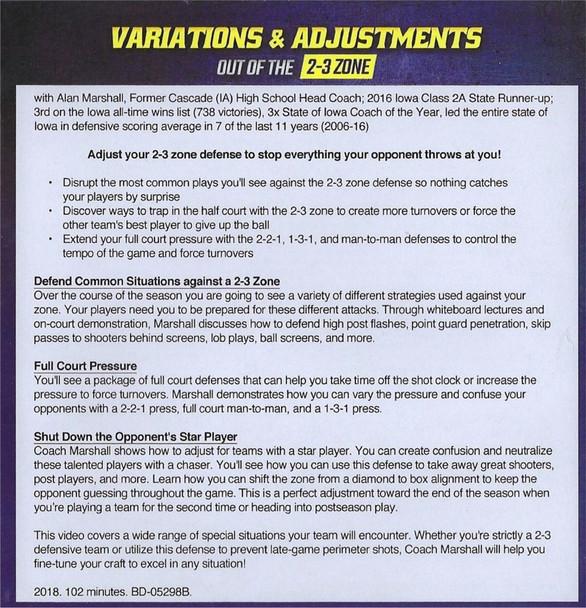 2-3 Zone Adjustments