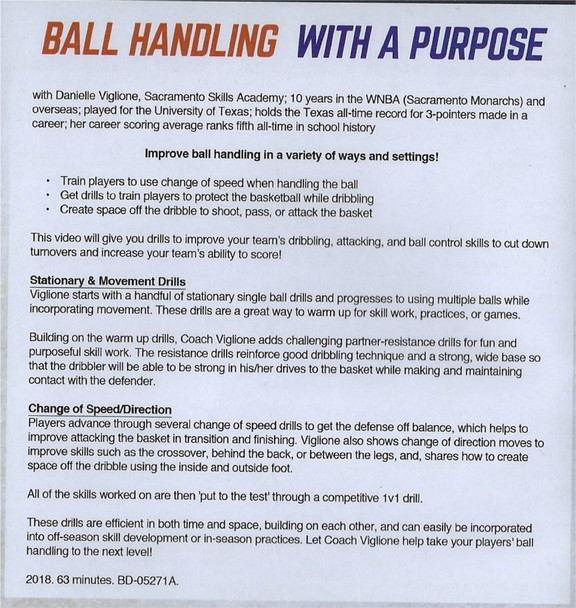 Ball Handling Drills stationary moving speed direction