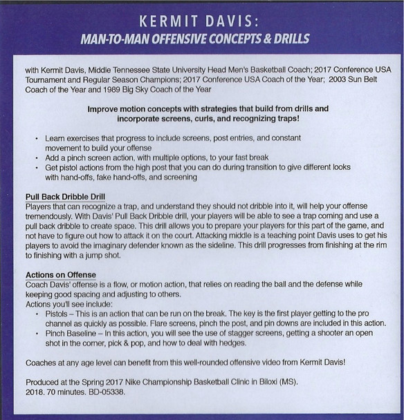 (Rental)-Man To Man Offensive Concepts & Drills