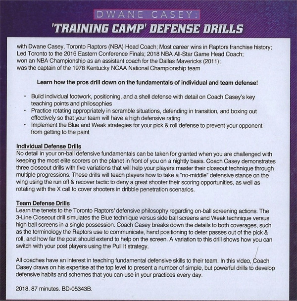 (Rental)-Training Camp Defensive Drills