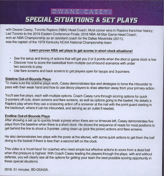 (Rental)-Dwayne Casey's Special Situations & Set Plays