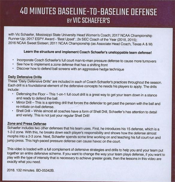 (Rental)-40 Minutes Baseline To Baseline Defense