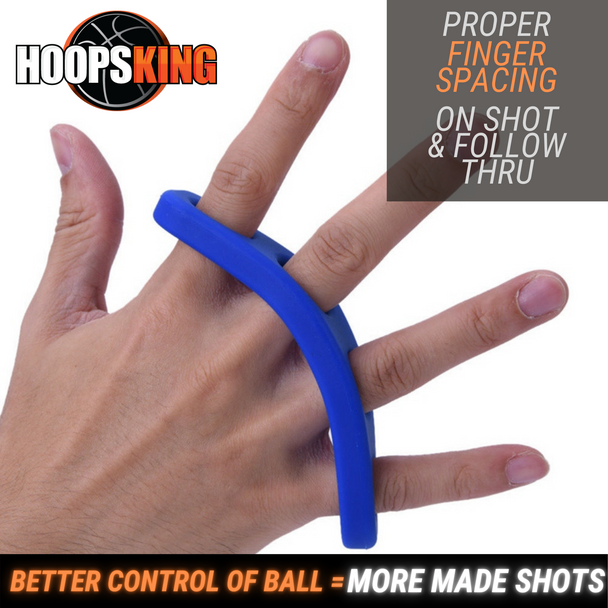 Keep fingers properly spaced  when shooting a basketball