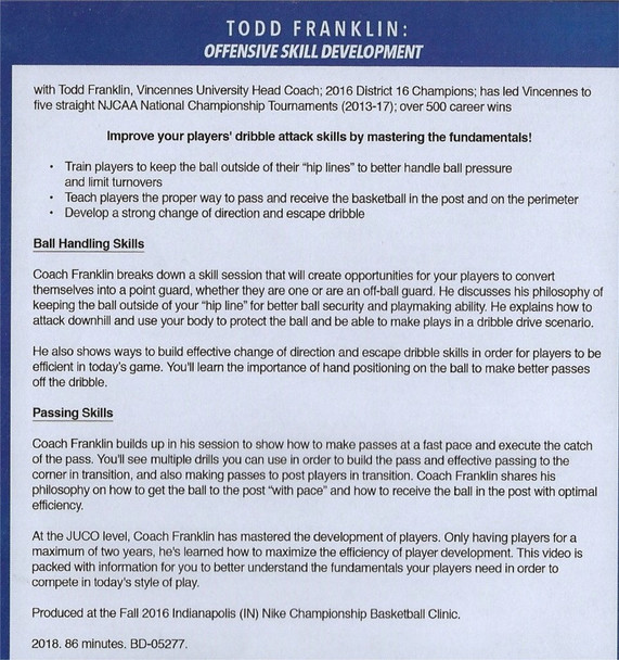 basketball offensive skill development drills