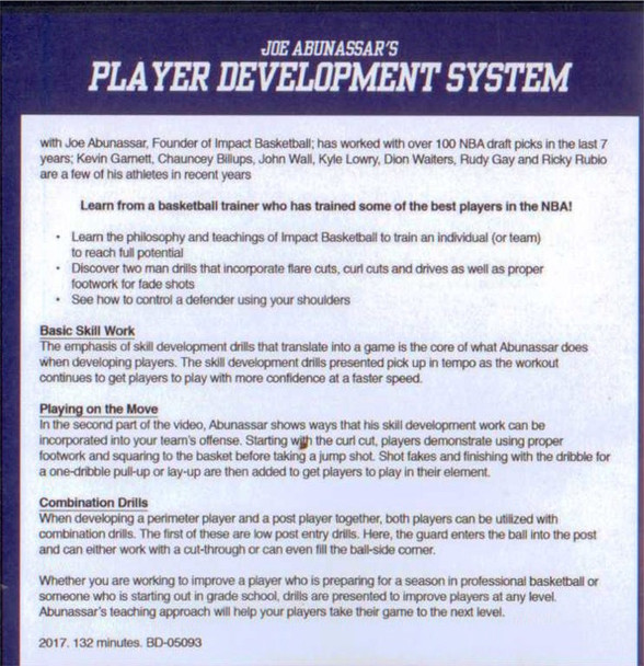 (Rental)-Joe Abunassar's Player Development System