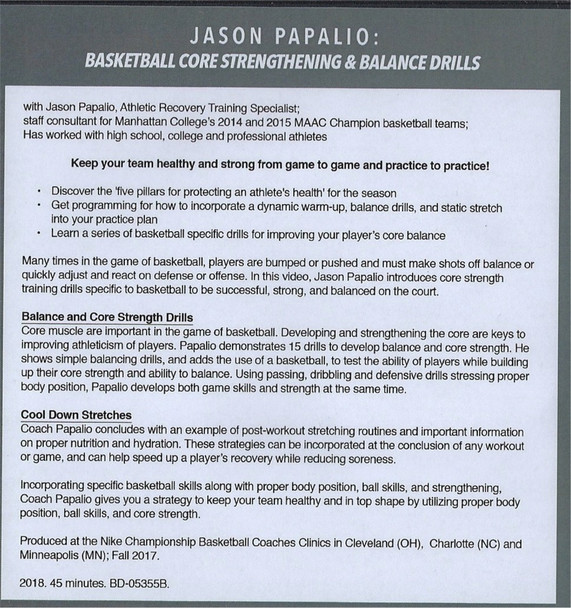 (Rental)-Basketball Core Strengthening & Balance Drills