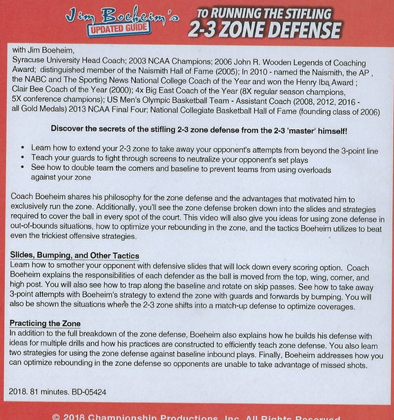 (Rental)-Boeheim's Updated Guide to Running the 2-3 Zone Defense