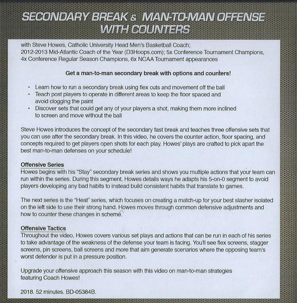 Secondary Break Offense for Basketball