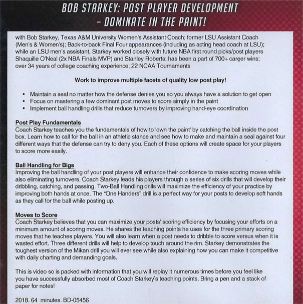 Post Player Development Drills and Workout
