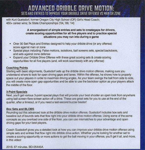 Dribble Drive Motion Offense Video
