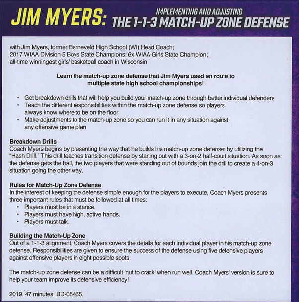 1-1-3 Matchup Zone Defense video