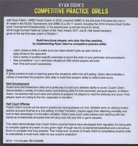 Competitive Basketball Drills Video