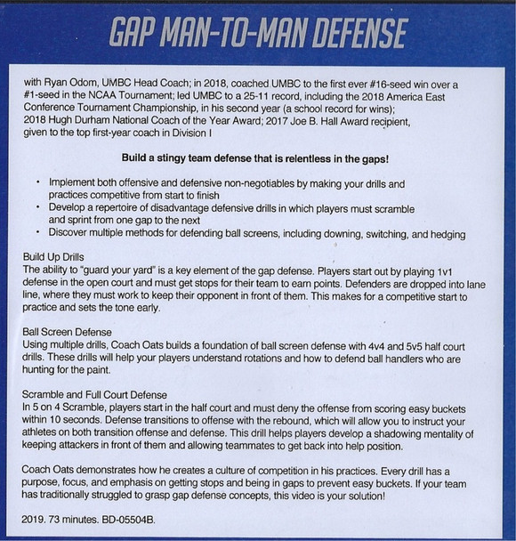 Gap Man to Man Defense Nate Oats