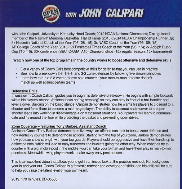 John Calipari Basketball Practice