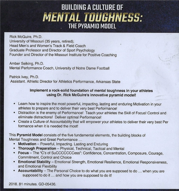 Mental toughness the pyramid model