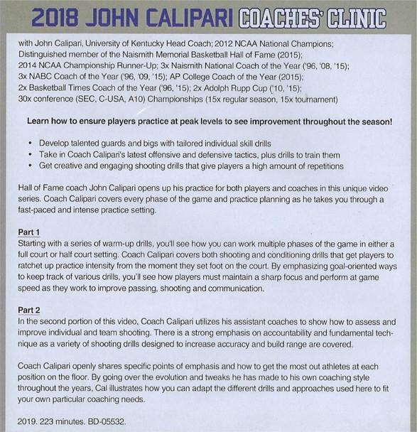 2018 John Calipari Coaching Clinic