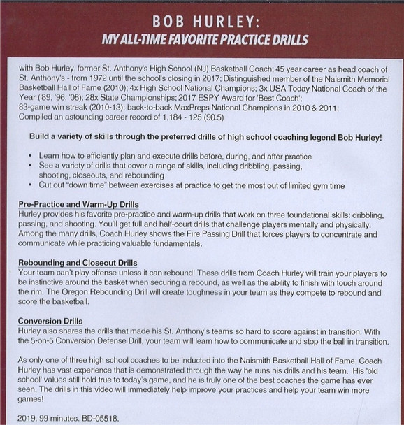 (Rental)-Bob Hurley's All Time Favorite Basketball Practice Drills