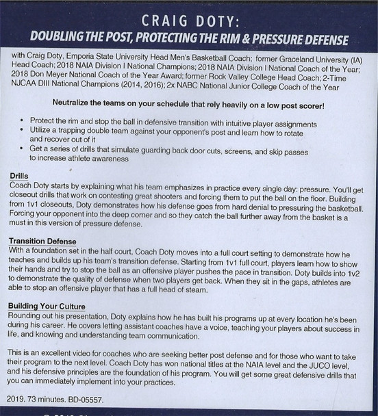 (Rental)-Doubling the Post, Protecting the Rim, & Pressure Defense