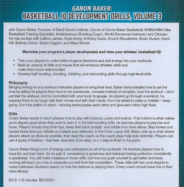 Ganon Baker Basketball IQ Development Drills Video