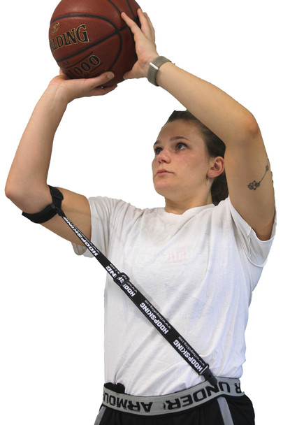 Straight Shot Basketball Shooting Training Aid for Flying Elbow and Follow Through