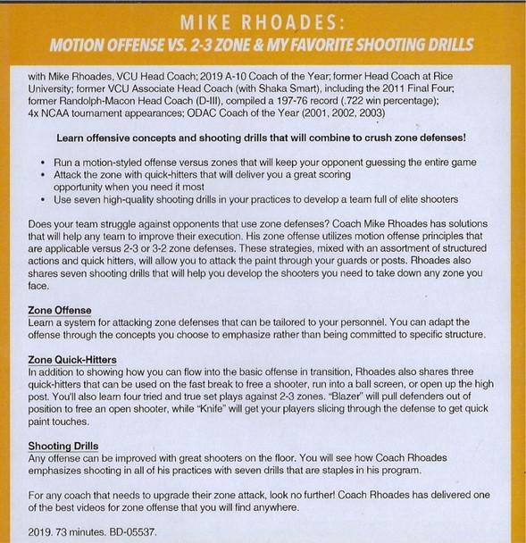 motion offense vs 2-3 zone defense basketball