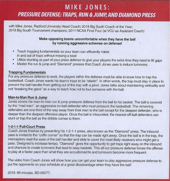 pressure defense basketball traps video