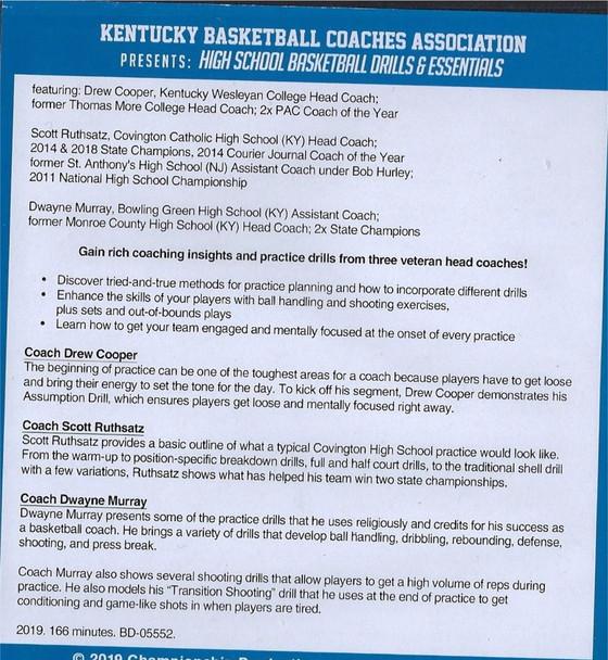 Kentucky Basketball Coaches Association Presents: High School Basketball Drills & Essentials