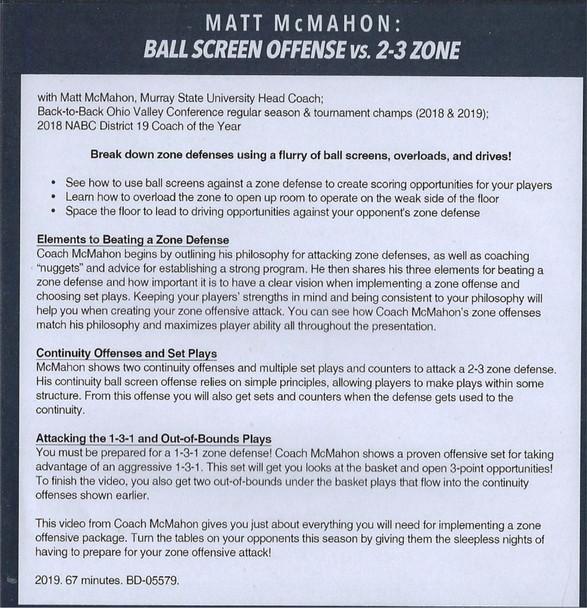 Ball Screen Offense vs 2-3 Zone Defense