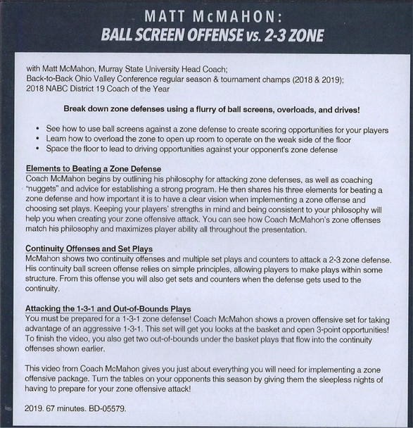 Ball Screen Offense vs 2-3 Zone Defense