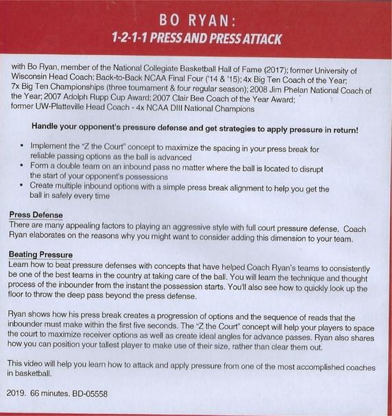 (Rental)-Bo Ryan's 1-2-1-1 Press & Press Attack