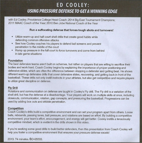 (Rental)-Using Pressure Defense to Get a Winning Edge