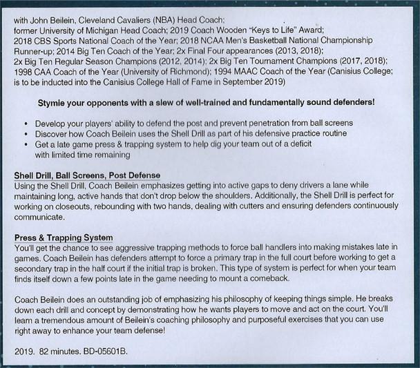 (Rental)-All Access Basketball Defensive Practice John Beilein