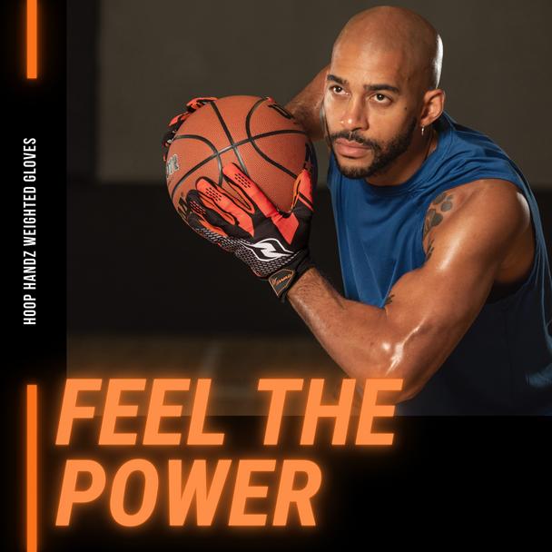 Hoop Handz weighted basketball dribbling gloves