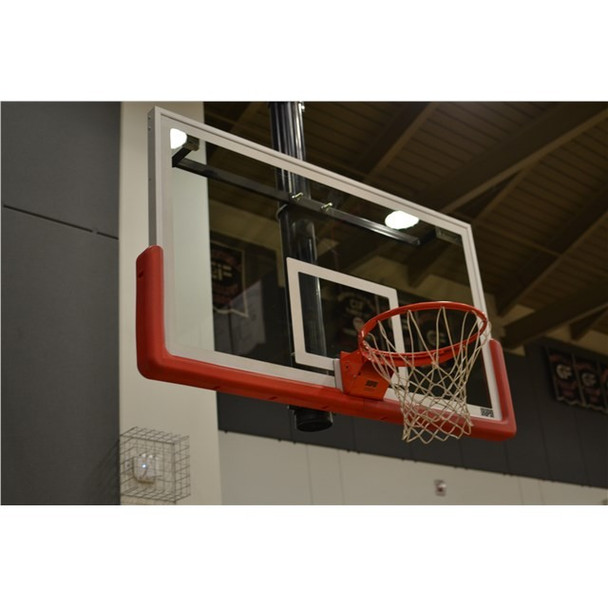 clean basketball backboard system