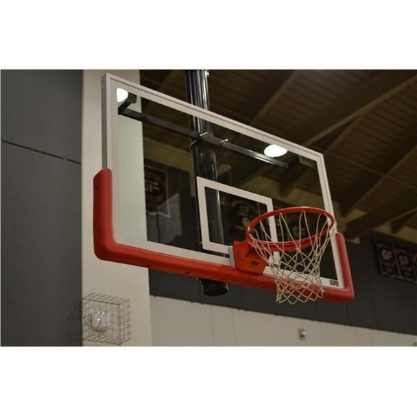 clean basketball backboard system