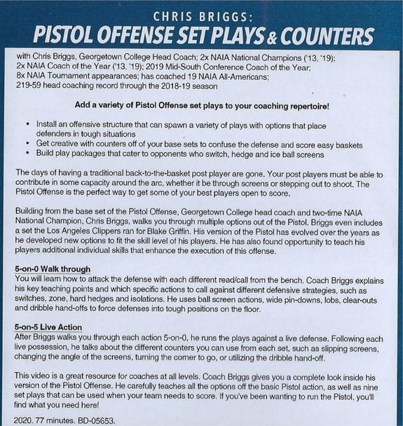 Pistol Offense Set Plays Basketball