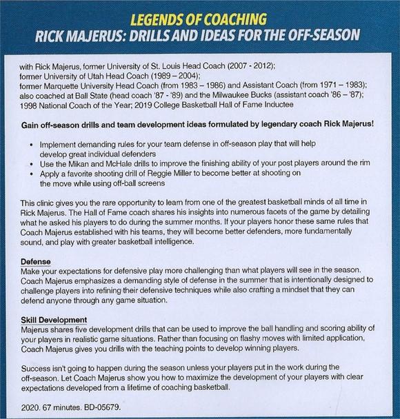 (Rental)-Rick Majerus Drills & Ideas for the Off Season