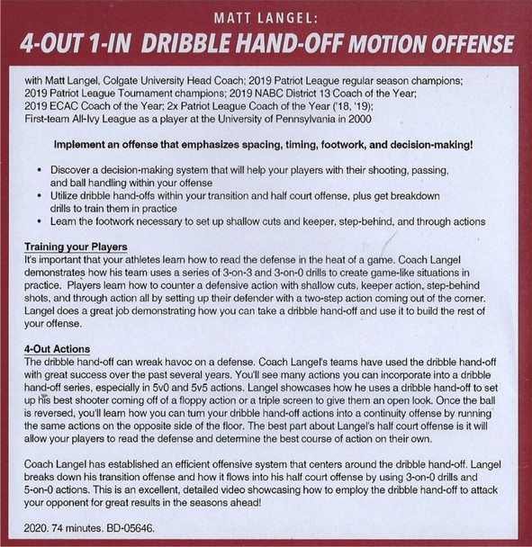 (Rental)-4 Out 1 In Dribble Hand Off Motion Offense