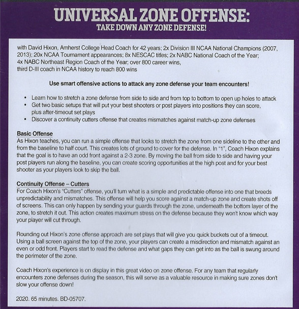 (Rental)-Universal Zone Offense: Take Down AnyZone Defense